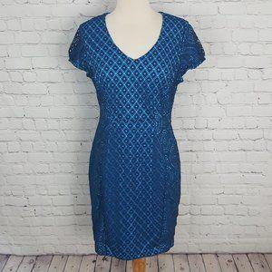 Marc New York Andrew Marc Blue Lace Dress sz 10